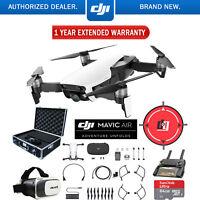 DJI Mavic Air Arctic White Drone Deluxe Fly Case & Warranty Extension Bundle