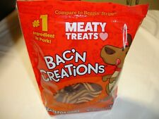 Meaty Treats Dog Treats Cheese and Bacon Strips Dog Chews Dog Food 25 Oz. Bag