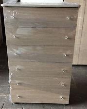 Settimino mobile arredo cassetti melaminico montato colore larice grigio cm 75