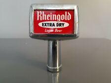OLDER VINTAGE  RHEINGOLD EXTRA DRY LAGER BEER TAP HANDLE, 3-1/4 INCH