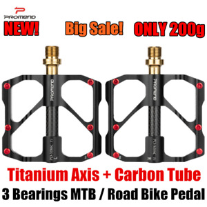PROMEND 200g Carbon Titanium Mountain Bicycle Pedal MTB Road Bike Pedal 3Bearing