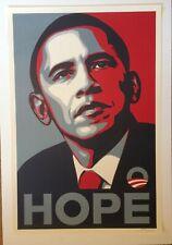 Obama HOPE Presidential Election Art Print poster Shepard Fairey Signed