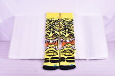 Stance Thick Wool Blend Snowboarding Socks, Rob Roskopp Face, Yellow, S / M