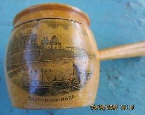 Mauchlin Ware Thimble Holder Covered Pot w. Handle Walton-On-Naze C. 1900