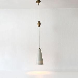 Rare MID CENTURY MODERN Scandinavian PENDANT LAMP Hanging Light 1960s Tynell Era