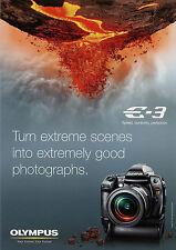 Prospekt GB Olympus E-3 Digitale Spiegelreflexkamera 3/08 2008 Broschüre brochur