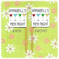 20 PERSONALISED COCKTAIL CUP CAKE FLAG Birthday Party Hen Do Night Topper Pick