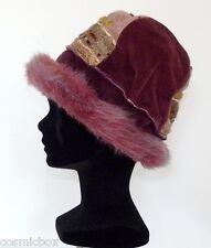 CHAPEAU hiver taille XS / S chaud femme France rose bordeaux vert winter hat new