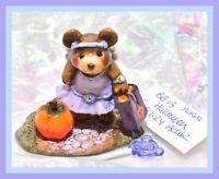 ❤️Wee Forest Folk BB-15 Halloween Fairy Bear Violet Purple Pumpkin Glitter WFF❤️