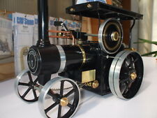 CJW Steam BRASS THREADED HUBCAPS & STEEL AXLES SET Mamod TE1a live steam models