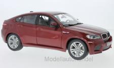Burago - BMW X6 M 2010 - metallic-rot  - 1:18 Bburago  >>NEW<<