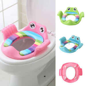 Kids Baby Potty Toilet Trainer Seat Step Stool Ladder Adjustable Training Chairs