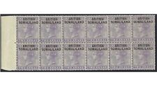 Somaliland 1903 Ovpt on India 2a Marginal Block of 12 Stamps SG3b MUH (4-28)