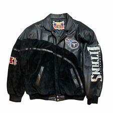 Vintage Jeff Hamilton NFL Tennessee Titans Leather Jacket Men's Large Bomber