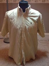 Ralph Lauren Shirt Pale Yellow Adult  Large (G816)
