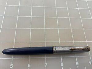 Judd's Vintage Parker 51 Sterling Silver Cap Fountain Pen w/14kt. Gold Fine Nib