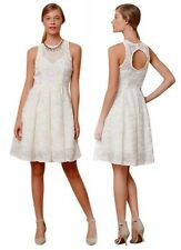 BHLDN $268 Anthropologie Isadora Dress 6 White Tracy Reese CutOut Back Textured