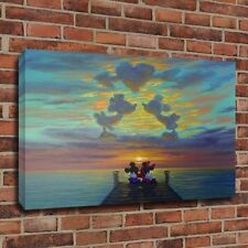 Wall Decor Disney Painting HD Print On Canvas Minnie's And Mickey Romantic