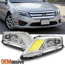 Fit 2010-2012 Ford Fusion DRL LED Sequentia Signal Projector Headlights 10 11 12