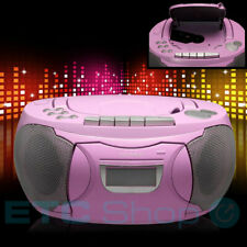 Stereo CD Player Mädchen Musik Anlage Pink Radio AUX Boombox Kinder Zimmer Party