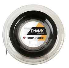 TECNIFIBRE dnamx 1.25 MM-NERO-Squash Stringa-REEL - 200 M-GRATIS UK P & P