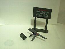 "machine gun defense unit 1984 GI Joe vintage Hasbro for 3 3/4"" figure"