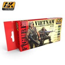 AK Interactive ACRYLIC PAINT SET VIETNAM U.S. GREEN & CAMOUFLAGE(set of 6)