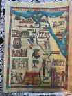 Tourist+map+of+Egypt+historic+sites+pictorial+12x18+New