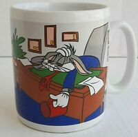 VTG WB Looney Tunes Bugs Bunny Is The Coffee Ready Yet Jumbo Coffee Cup Mug 1996