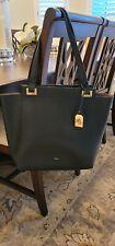 Ralph Lauren Large Pebbled Black Leather Tote Shoulder Handbag Purse Euc