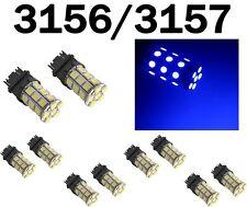 10x 3156/3157 T25 27-SMD 5050 LED Ultra Blue Tail Turn Signal Light Bulb Lamp