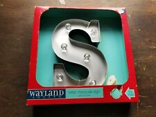 """Wayland Square LED Lighted Metal Marquee Sign """"S"""""""