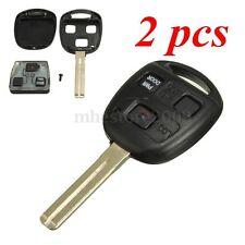 2Pcs 3BTN Uncut Entry Remote Key Power Door For Lexus RX350 RX450h RX330 RX400h