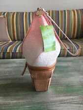 KATE SPADE -  Flavor of the Month - Ice Cream Cone Wristlet Bag NWT- Adorable!!