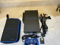 12 GAMES Sony PlayStation 2 Console Bundle - Black (SCPH-50001/N) Fat Tested