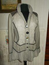 SUPERBE Veste long manteau beige effet vieilli ELISA CAVALETTI L 42 46I 40D AM38