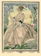 Innamorata di un fiore-Umberto Brunelleschi-ORIGINALE POCHOIR Pictures 1955
