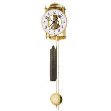 JVD LO3 Wanduhr mit Pendel mechanisch golden Pendeluhr Skelettuhr mit Schlag