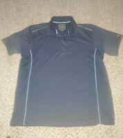 Greg Norman Polo Shirt Mens Size L Black Golf Play Dry Short Sleeve Shark