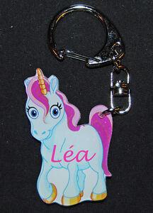 Porte-clés prénom personnalisé licorne modele 1