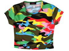 Vêtements multicolores avec col rond pour fille de 2 à 16 ans