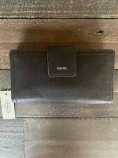 New with Tags, Fossil Logan RFID Tab Wallet in Black