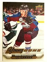 2015-16 Upper Deck Mikko Rantanen Young Guns Canvas Rookie #C98 Hockey Card