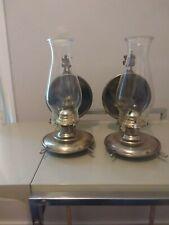 Vintage Set Of Oil Lanterns Brass Colored