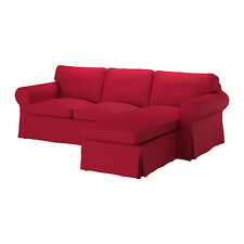 New Ikea Ektorp COVER SET for 2 seat sofa with chaise in Nordvalla Red