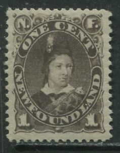 Newfoundland 1880 1 cent brown mint o.g. hinged