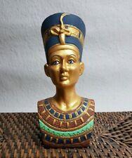 """Ägypten Figur Büste Pharao/"""" Nofretete/"""" Statue Höhe 53cm Farbe:Bronze//Gold"""