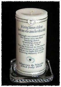 Wedding Absence Candle In memory of all who cannot be with you #1