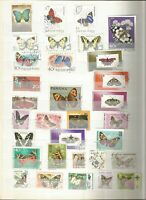 Schmetterlinge Butterfly Mariposa Lot Briefmarken Sellos Stamps Timbres