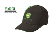 Genuine John Deere Black Stripe Baseball Cap Hat Adults MCJ099399108